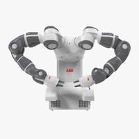 yumi robot abb 1 3d max