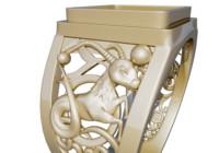 ring capricorn 3d model