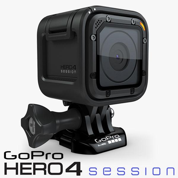 gopro hero4 session 4 3d model
