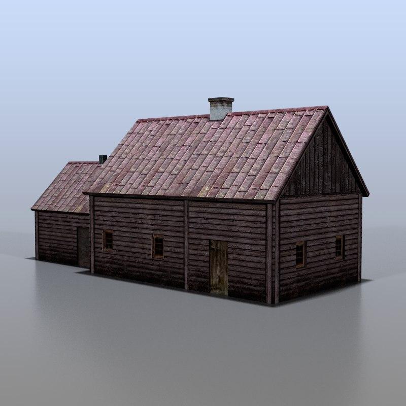 house belarusian 3d obj