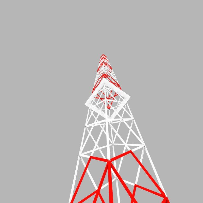 3d radio tower model