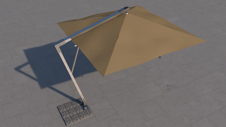 luxury sunshade beach umbrella obj