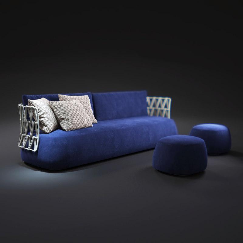 3d model fat-sofa-outdoor