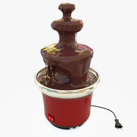 chocolate fountain 3d max