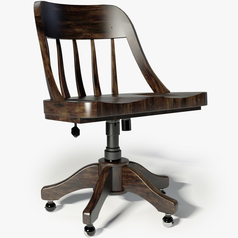 3d restoration hardware keating desk chair