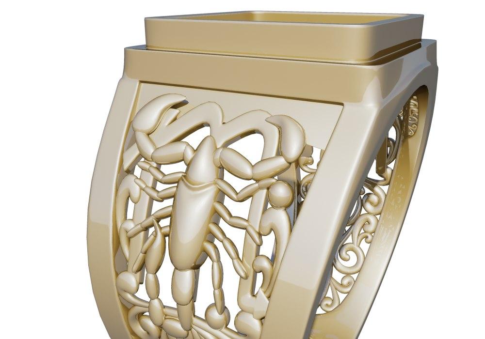 ring scorpio 3d model