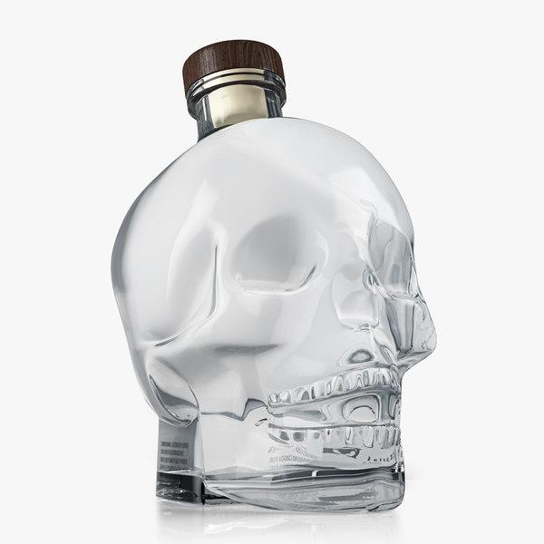 3d model crystal head vodka