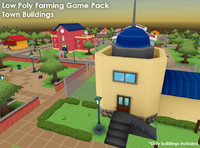 Lowpoly Farming Game Pack - Town Buildings