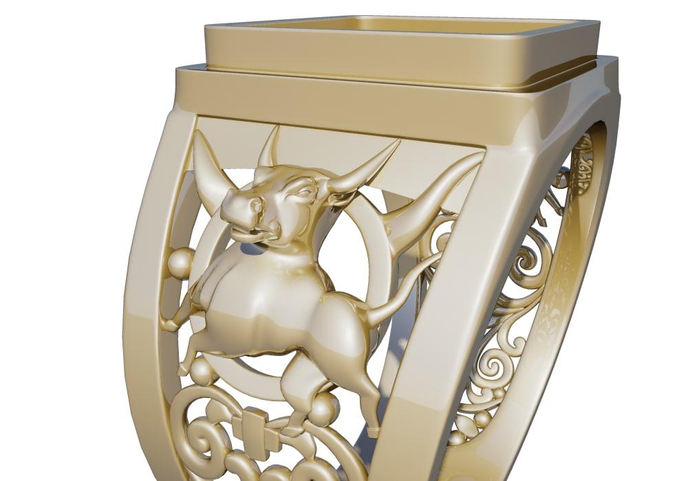 ring taurus 3d max