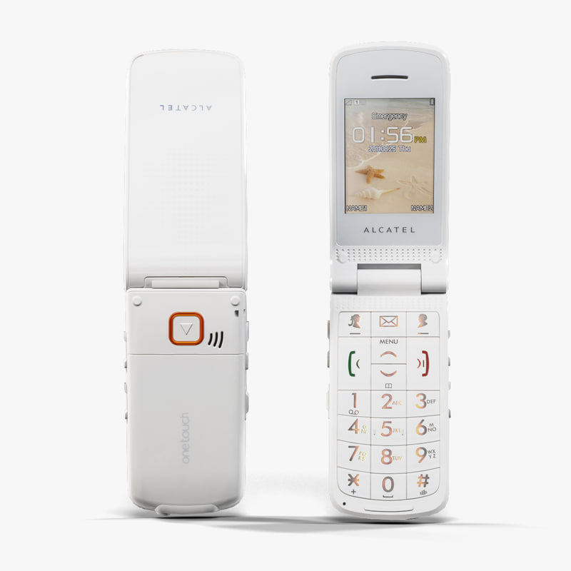 3d low-poly alcatel onetouch 536