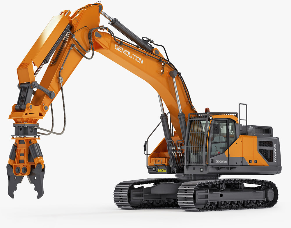 excavator demolition equipment c4d