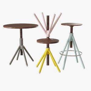 3d coordination thread family stools model