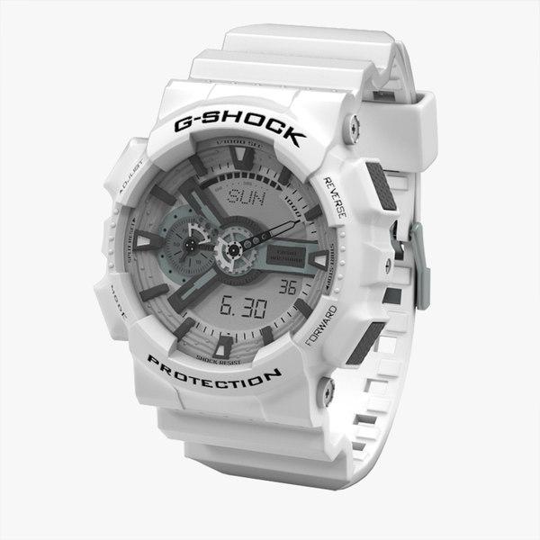watch ga-110-7aer ga-110-1ber 3d max