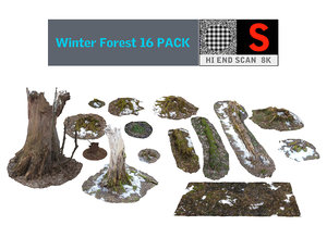 3dsmax winter forest 16 pack
