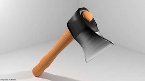 civil tool axe 3d model