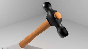 civil tool ball-peen 3d model