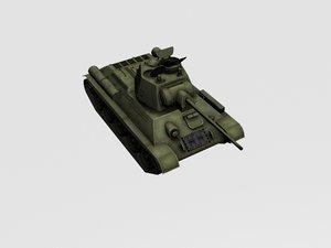 3d model of t-34-57 1943