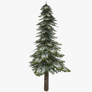 3ds pine tree snowed -