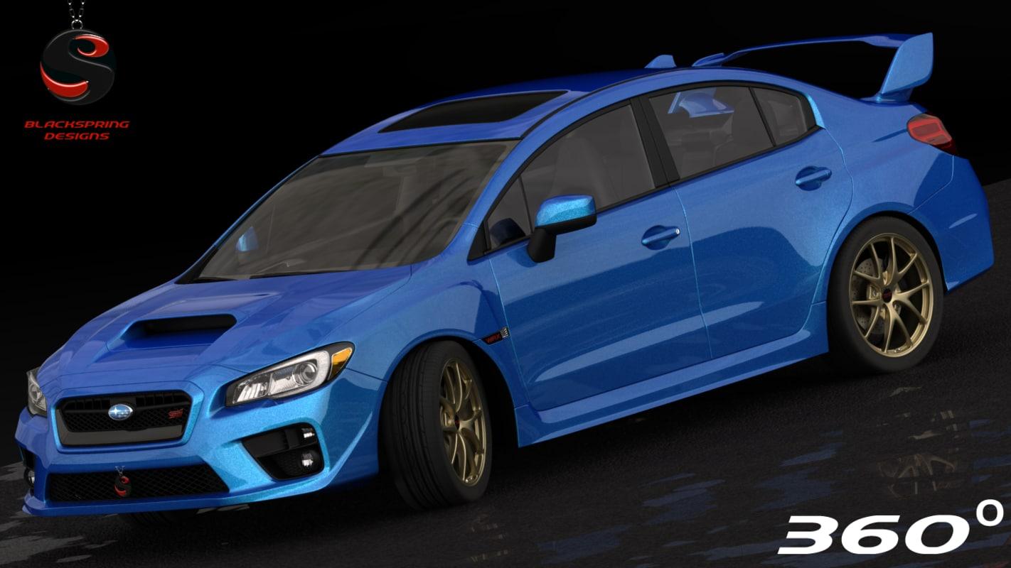 Subaru Brz Turbo >> subaru impreza wrx sti 3d model