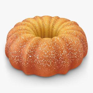 pumpkin buttermilk cake sugar 3d 3ds