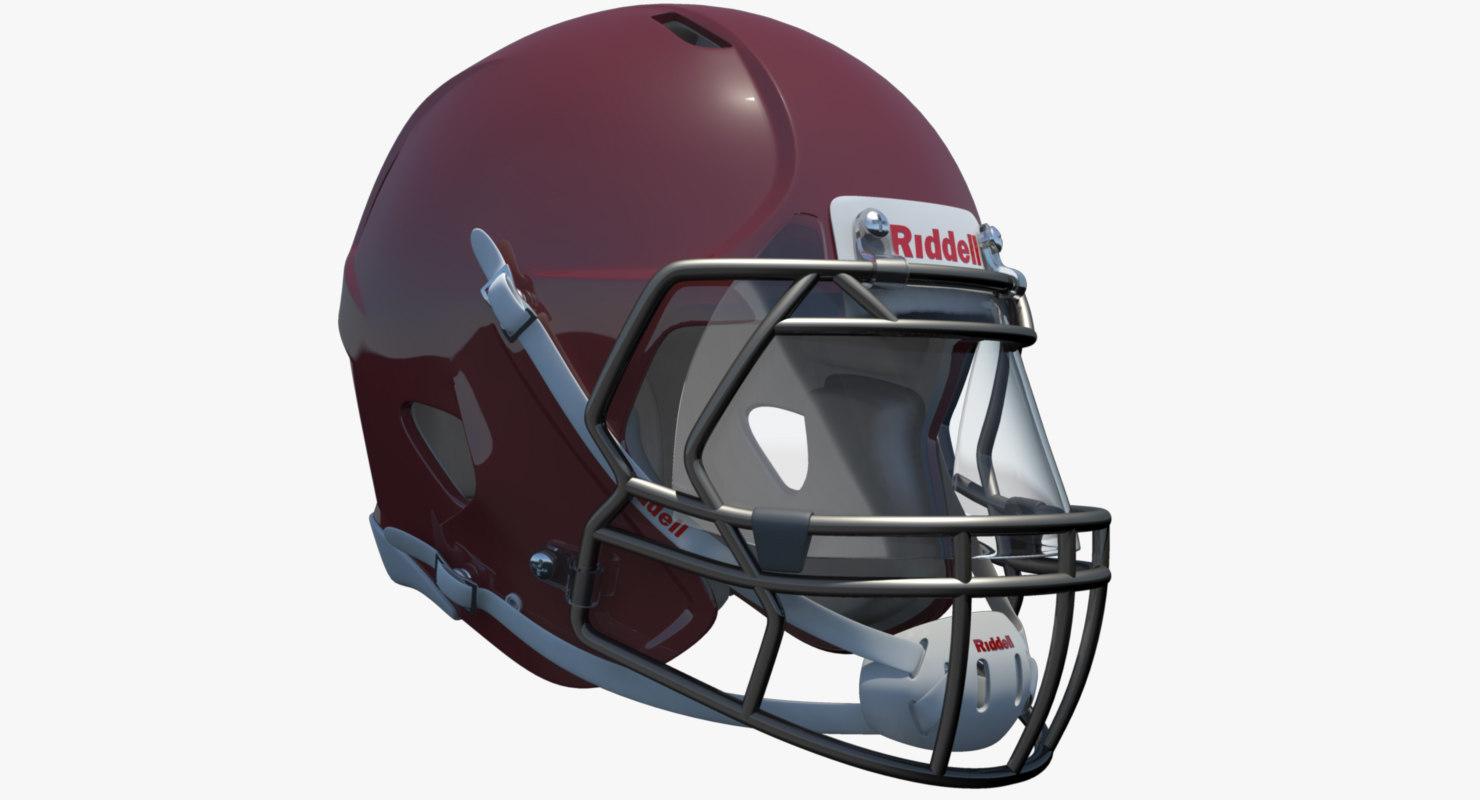 american football helmet riddell obj