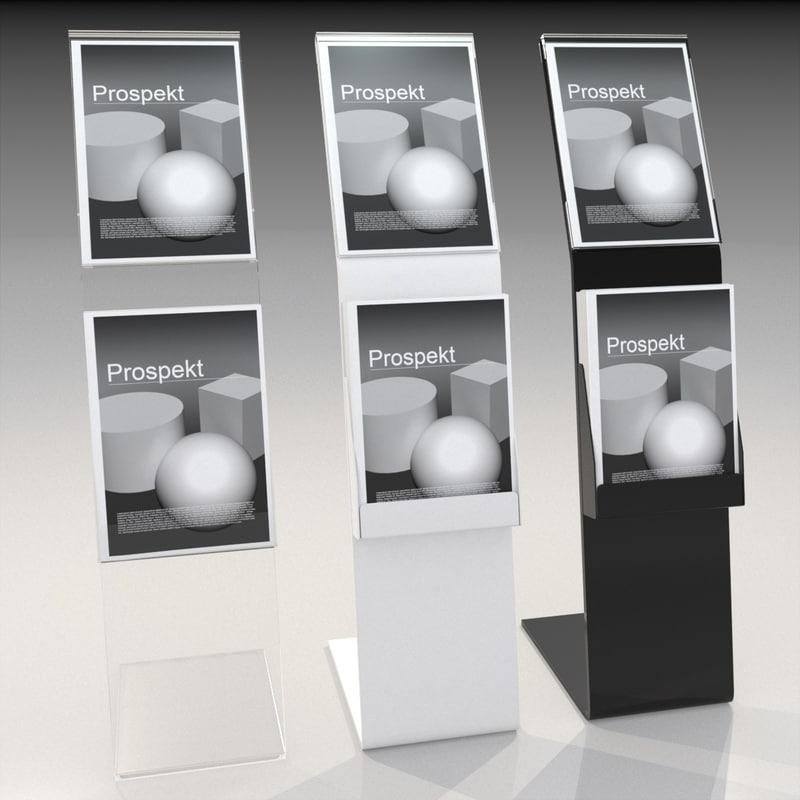 3d model acrylic brochure