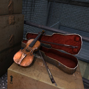 3ds max old violin