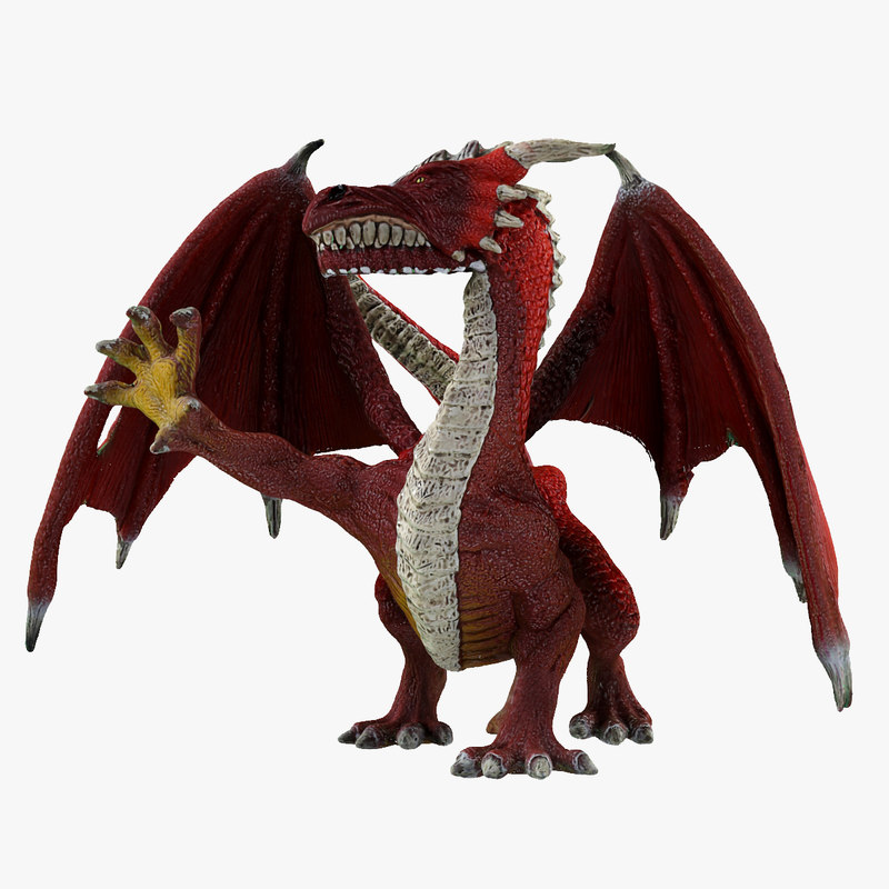 3d dragon warrior toy model