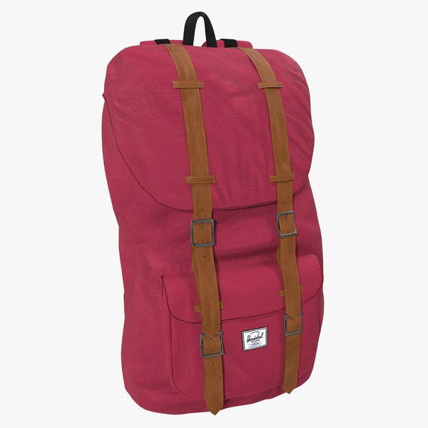 3d obj backpack 8 vinous