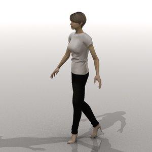 alice woman 3d model