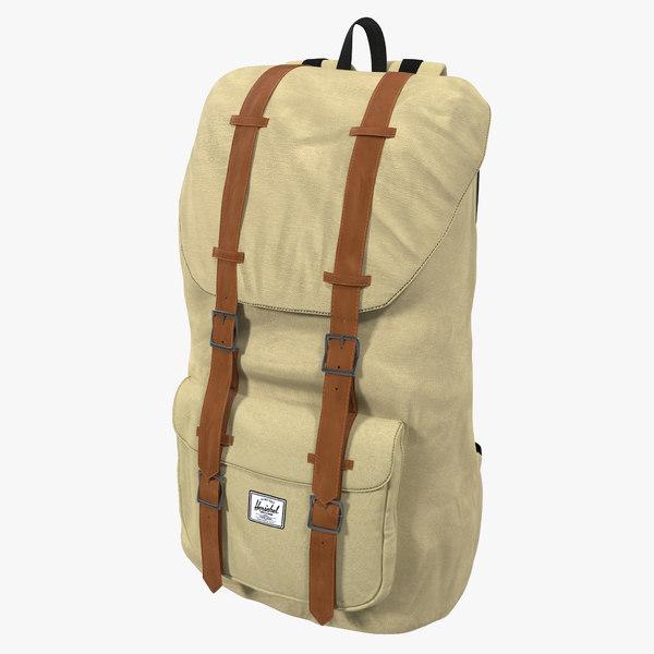 3d backpack 8 beige