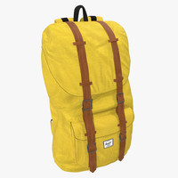3d backpack 8 yellow model