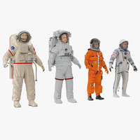 3d model rigged astronauts nasa