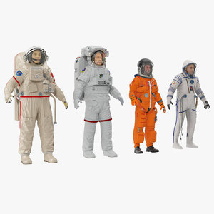 3d model rigged astronauts nasa