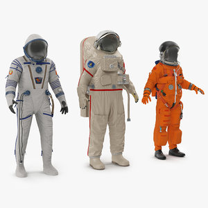 3d space suits rigged