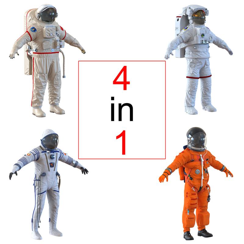 3d space suits nasa model
