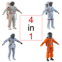 3d space suits nasa model