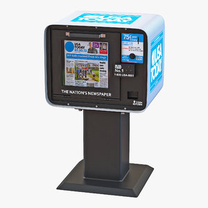 3d usa today newspaper box model
