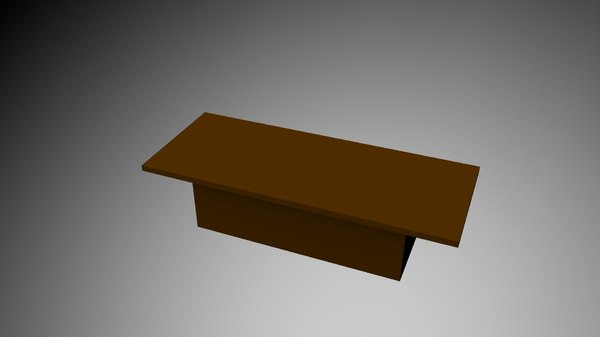 3d lego bench model