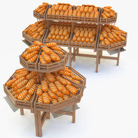 rack bread 3d c4d