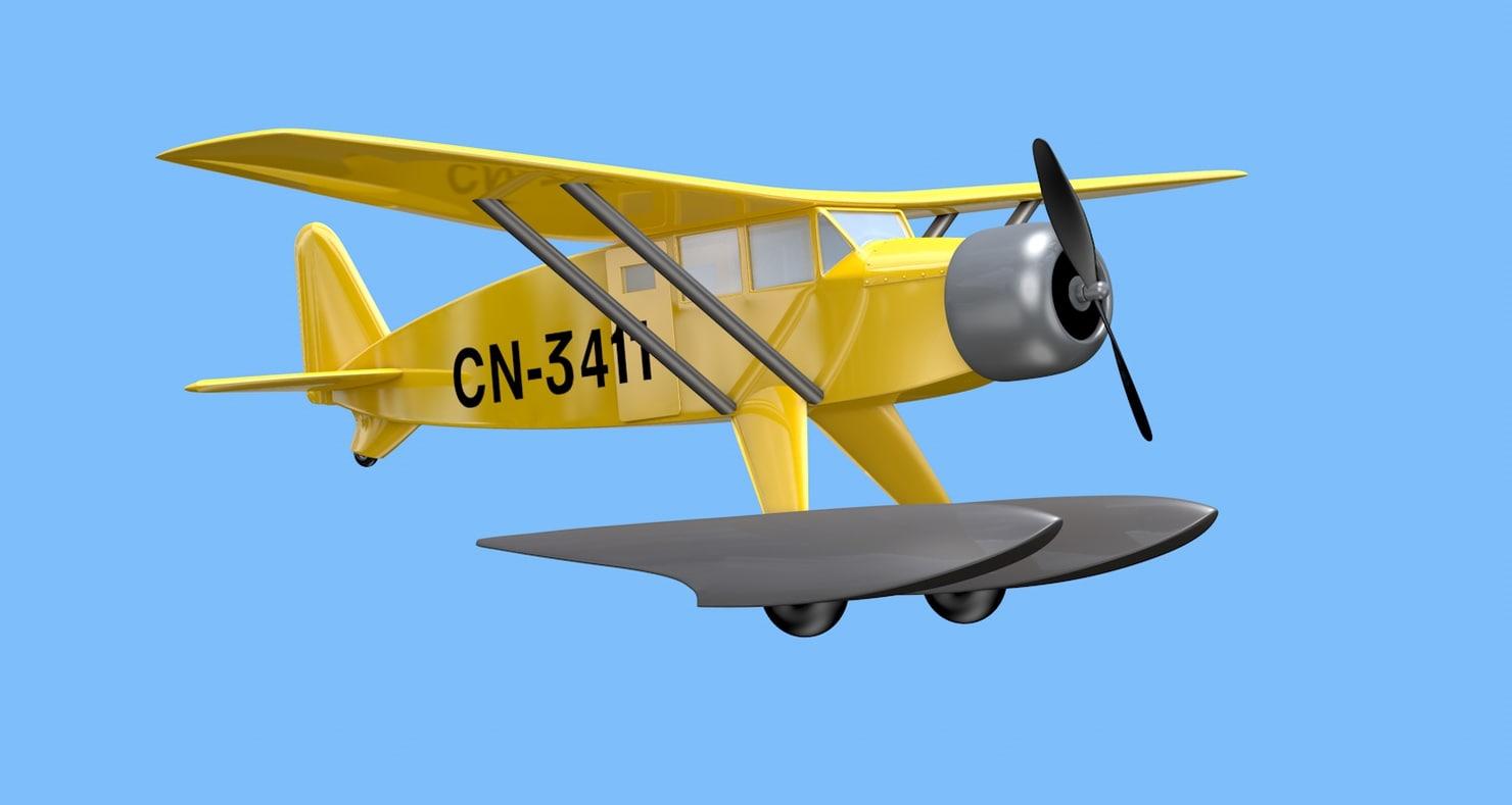 seaplane tintin c4d