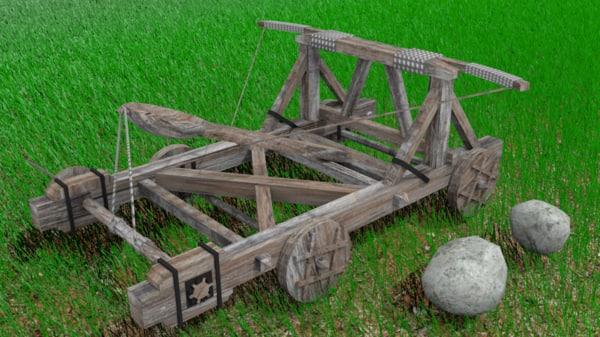 3ds max catapult