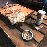 pizza box soda 3d max