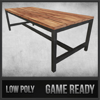Rustic Wood Table 03