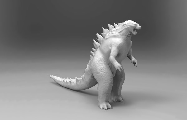 3d godzilla print ready model