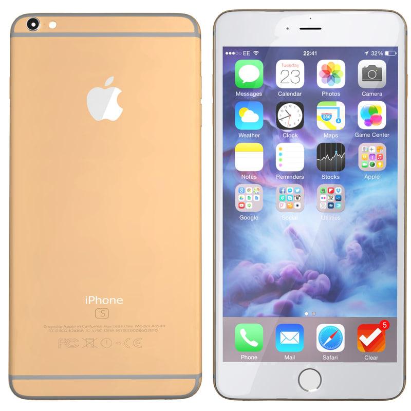 3d modelled iphone 6s gold model