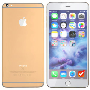 3d modelled iphone 6s gold model