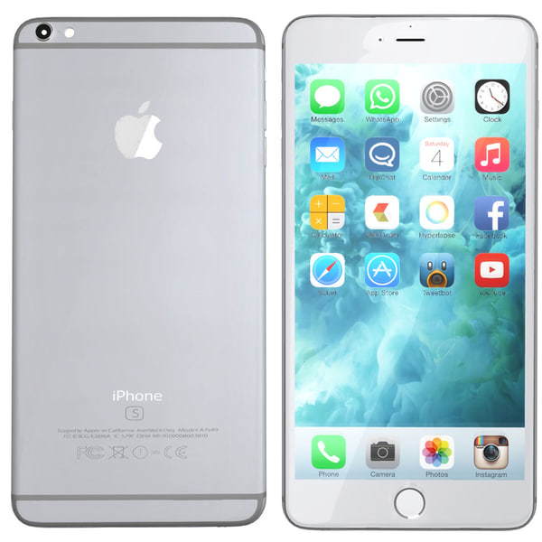 modelled iphone 6s silver 3d 3ds