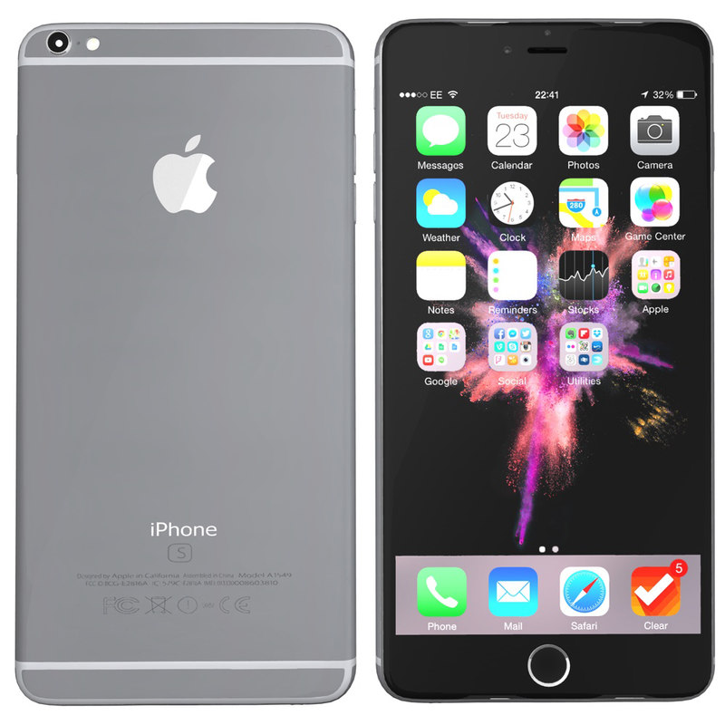 modelled iphone 6s spacegrey 3d c4d