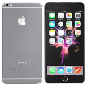 modelled iphone 6s spacegrey 3d c4d